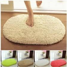 40x60cm lint plush non slip absorbent bathroom mat oval kitchen