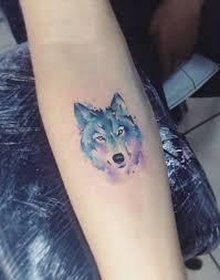 watercolor tattoo small watercolor wolf tattoo tattooviral