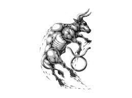 restless bull tattoo design real photo pictures images and