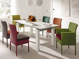 Square Dining Room Table Sets Dining Room Dining Room White Modern Square Table With Colorful