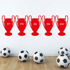 liverpool wall art ebay 5 european cups liverpool wall decal sticker removable wall art