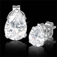 hypoallergenic earrings uk teardrop cubic zirconia stud hypoallergenic earrings uk solace