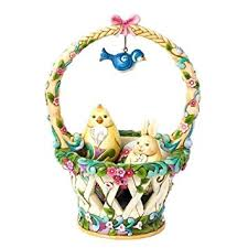 jim shore easter baskets jim shore heartwood creek basketful of surprises