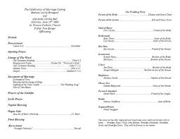 wedding bulletins templates cool christian wedding program template contemporary