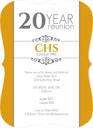 50th high school class reunion invitation classic colors 20 year class reunion invitation by inviteshop
