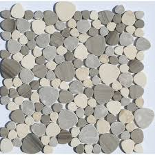shop faber 13 in x 13 in sand dune pebbles blends mosaic wall tile