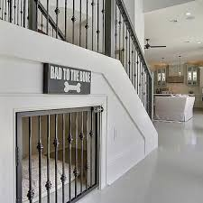 under the stairs dog bed transitional entrance foyer maison de