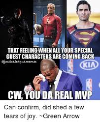 Justice League Meme - that feeling when all your special guestcharactersarecoming back