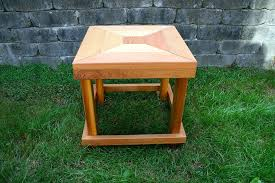outdoor wood side table seattle cedar