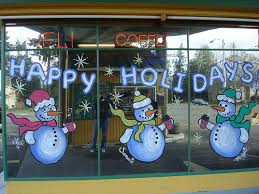 Christmas Classroom Window Decorations by Window Painting Of