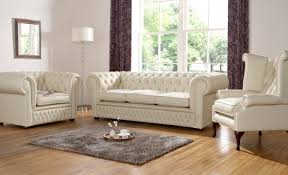 Chesterfield Sofa Suite Furniture White Fabric Chesterfield Sofa With Framed Mirror Drum