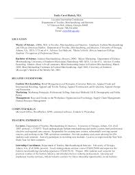 Fashion Industry Resume Ideas Of Cover Letter For Fashion Merchandising Job On Resume
