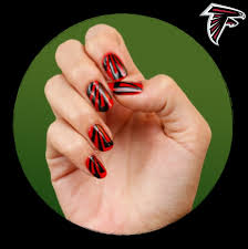 football nails via covergirl com atlanta falcons beauty