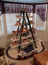 my christmas ladder with christ at center as he should be