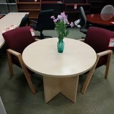 Big Meeting Table Meeting Table Office Tables Mahogany Finish 36 U2033 Diameter 4 Seater