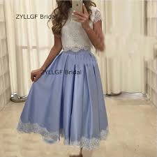 zyllgf bridal a line two piece prom dresses cap sleeve special