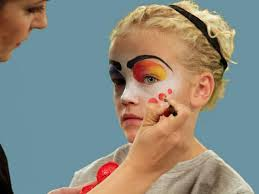 kids halloween makeup how to paint a clown face for halloween hgtv