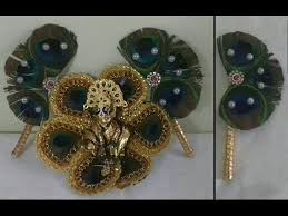 peacock feather fan how to make peacock feather pankha for bal gopal fan for laddu