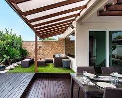 small garden create baume yard artificial turf seating area