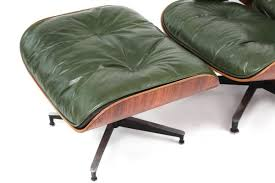 Herman Miller Lounge Chair And Ottoman by Rare Green Leather Eames Herman Miller 670 Lounge Chair Red