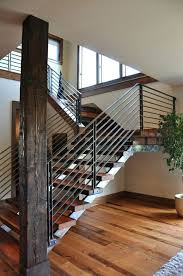 Iron Handrail For Stairs Trendy Metal Stair Rails 9 Metal Stair Rails Interior Image Of