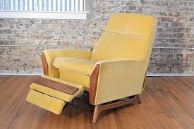 Modern Recliner Mid Century Modern Recliner By Adrian Pearsall In Yellow Velvet