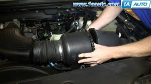 engine for ford f150 how to remove install replace engine air filter 4 6l ford f150