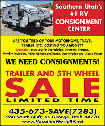 Southern utah rv consignment center vacation world st george