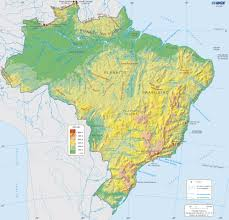 Blank Map Of Brazil by Online Maps Brazil Physical Map