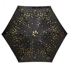 fulton tiny 2 star print umbrella in metallic lyst