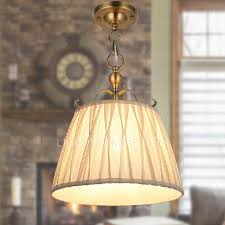 Pendant Light With Shade by White Fabric Shade Mini Pendant Light In E14 Base