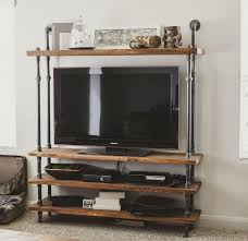 Industrial Pipe Bookcase Best 25 Reclaimed Wood Tv Stand Ideas On Pinterest Rustic Wood