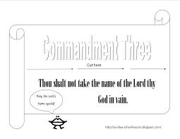 sunday lessons of plenty 10 commandments