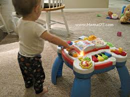 sit to stand activity table mama ot 8 ways to use a baby play table physical therapy for