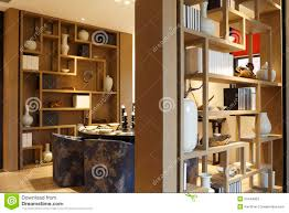 used dining room furniture between the two shelves dining room table stock photo image