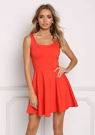 fit and flare dress junior clothing rust fit flare dress loveculture
