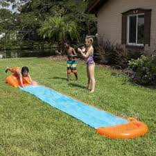 single lane h2ogo water slide splash kids play fun backyard