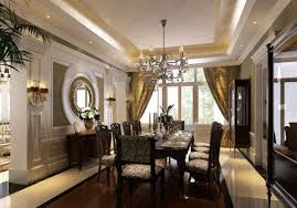 Gold Dining Room by Luxury Dining Room Curtains Stupendous Round Mirrors For With