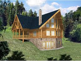 log home floor plans with basement hickory creek a frame log home plan d house plans and more