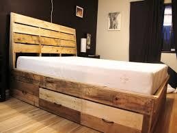 diy panel headboard black leather bed frame with hidden storage and black polished