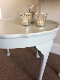 pie crust end table shabby to chic vintage pie crust coffee table in restalrig
