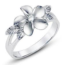 flower band metal factory 925 sterting silver plumeria cubic