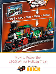 how to power the lego winter holiday train the family brick