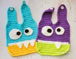 halloween bib crochet monster baby bibs repeat crafter me crochet monsters