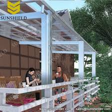 Aluminum Porch Awning Aluminium Porch Polycarbonate Patio Cover Sunshield Shelter