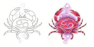 freebies designs cancer crab girly by tattoosavage on