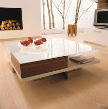 contemporary coffee table glass walnut beech ct 90 hülsta