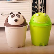 indoor decorative plastic trash can cartoon plastic garbage can