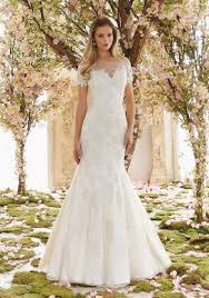 venice lace appliques on soft net wedding dress style 6832 morilee