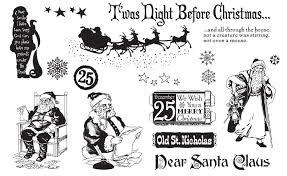 vintage santas rubber sts tj designs by tweetyjill